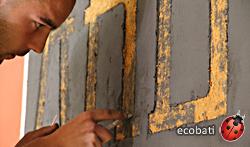 l'argile de finition comme décoration écologique