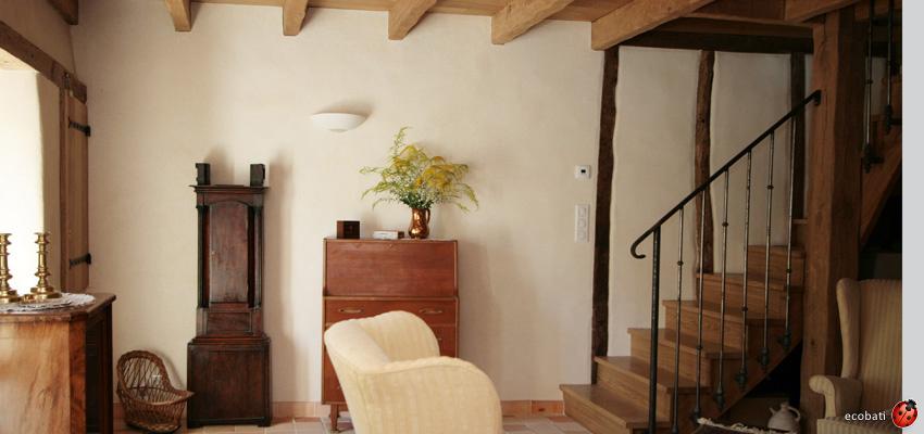 Argilus gamme design est compos de 165 teintes ecobati for Mur en chaux interieur