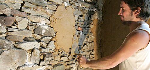 Torchis base d 39 argile pour enduit int rieur argilus for Realiser un enduit monocouche