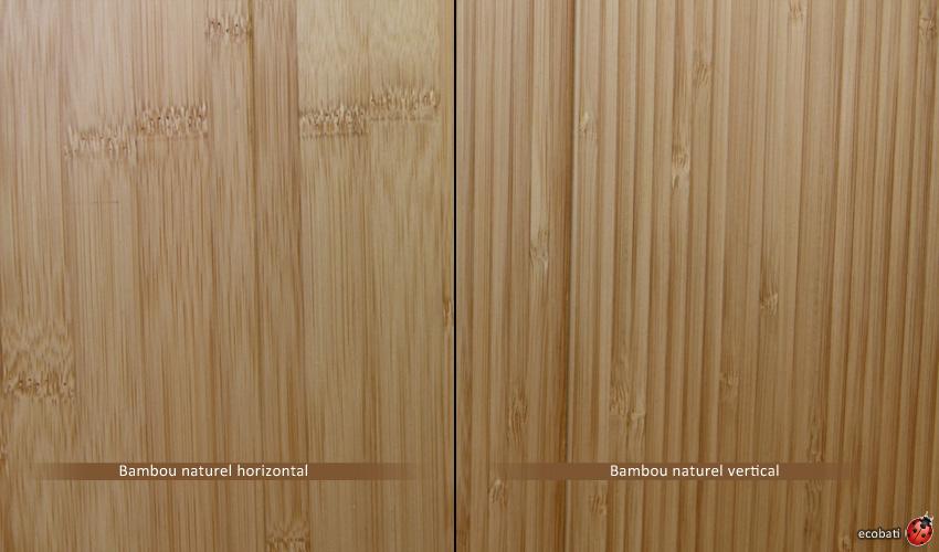 Difference Esthetique Entre Le Bambou Horizontal Et Vertical