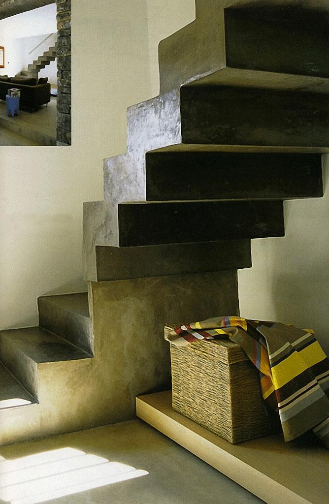 escalier en Claylime claystone