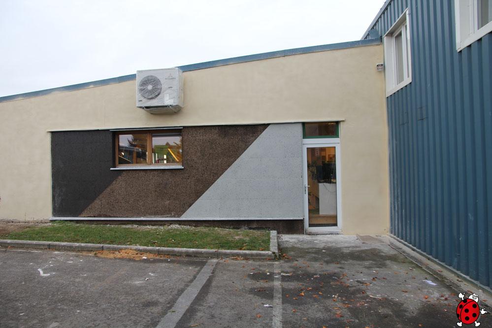 La façade terminée