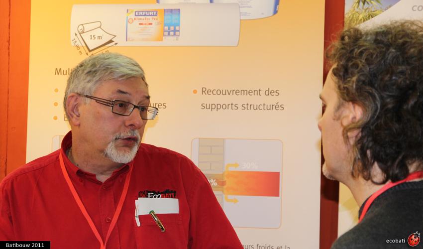 Monsieur Noël représente Ecobati à Batibouw un rêve devenu une belle réalité