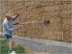 projet formation d'enduit terre sur maison en paille