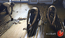 The Parquet Planers, 1875 Gustave Caillebotte