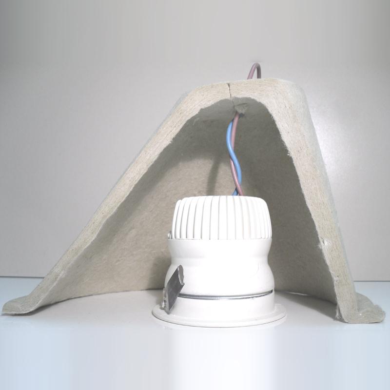 capot pour protection au feu des spots encastr s. Black Bedroom Furniture Sets. Home Design Ideas