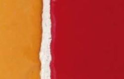 carreaux émaillé jaune et rouge