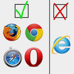 explorer non compatible mais firefox compatible chrome compatible op�ra compatible safari compatible
