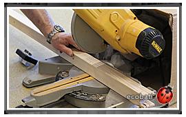 découpe facile des profilés inno-wood