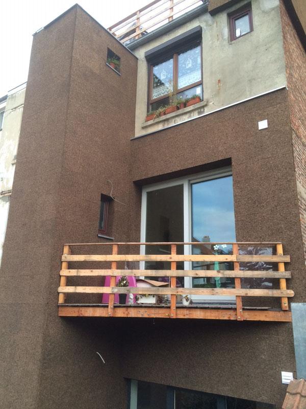 Isolation par l'extérieur avec l'isoliège de façade de la socitété Isoself