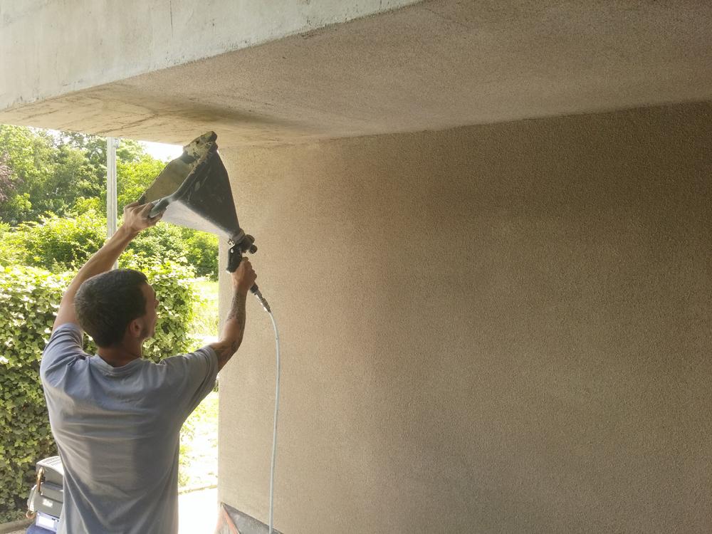 Ecobati produit enduit neutre b finishcork matgreen 16kg for Enduit beton cellulaire exterieur