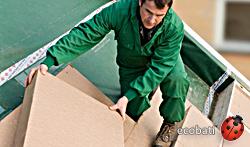 Steico therm sur la toiture, une isolation écologique reçyclable et très résistante