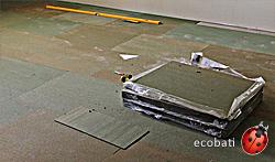 steico underfloor au sol dans la salle de démonstration d'Ecobati