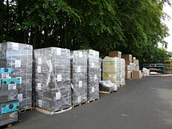 palettes de panneaux de liège expansé en stock