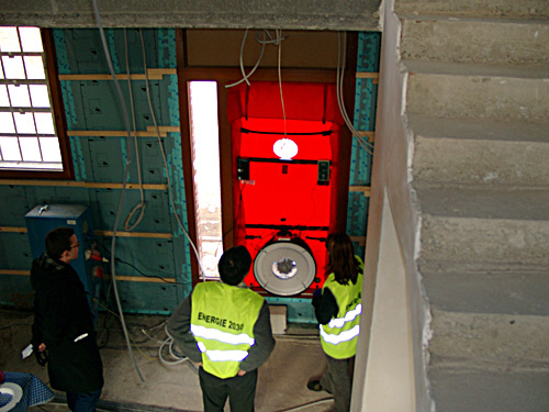 test blower door infiltrométrie