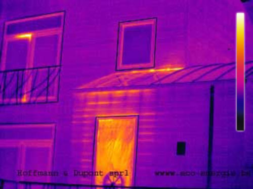 capture infrarouge des fuites de chaleurs