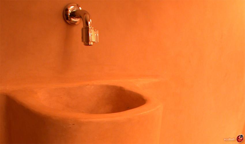 Tadelakt naturel ecobati for Salle de bain en tadelakt