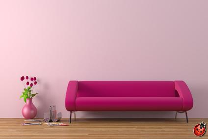 la peinture ultranature de dispersion peut être teintée en rose ou en des milliers d'autres couleurs selon votre choix, les pigments sont bien sûr au maximum des produits naturels