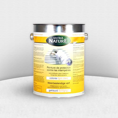 ecobati peinture naturelle gris clair contre les intempéries