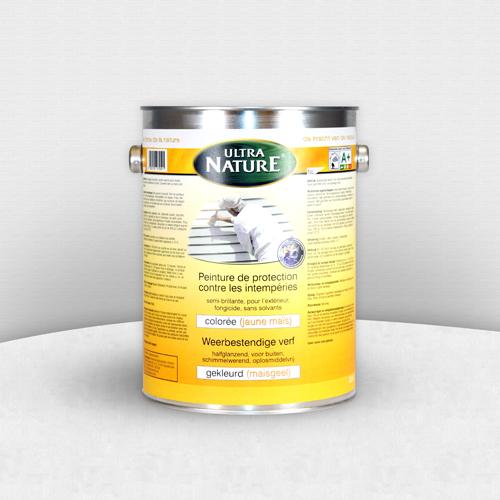 ecobati peinture naturelle jaune maïs contre les intempéries