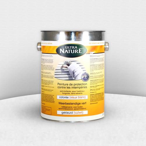 ecobati peinture naturelle vieux-blanc contre les intempéries