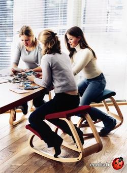 être assis mais actif sur un siège ergonomique