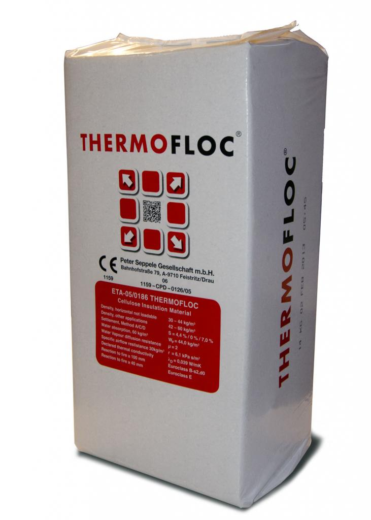 isolation naturelle en ouate de cellulose thermofloc 14kg ecobati. Black Bedroom Furniture Sets. Home Design Ideas